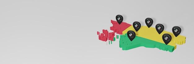 Utilisation des médias sociaux et de tik tok en guinée bissau pour des infographies en rendu 3d