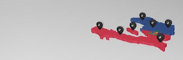 Utilisation des médias sociaux et de tik tok en haïti pour des infographies en rendu 3d