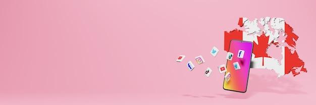 Utilisation des médias sociaux wa fb ig youtube et tiktok au canada pour les besoins de la télévision sur les médias sociaux