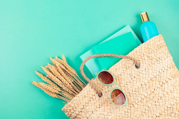 Vacances d'été, voyage, concept de tourisme à plat