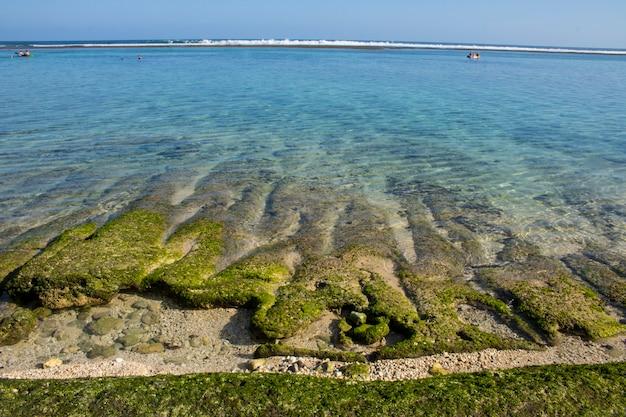 Vacances d'été vue sur la plage
