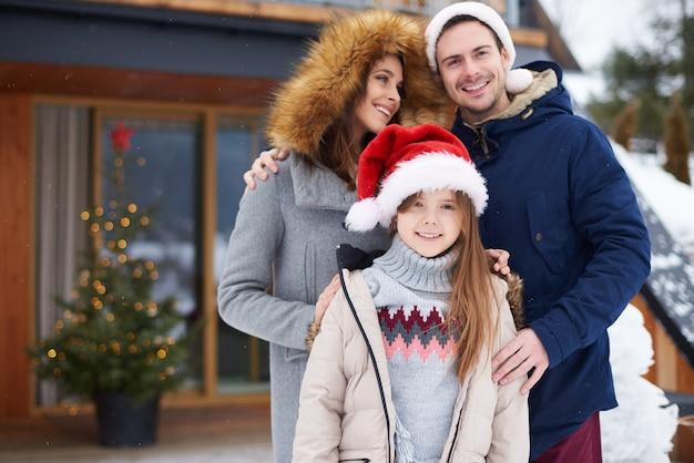 Vacances d'hiver dans la station touristique