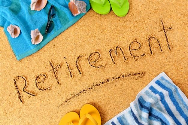 Vacances à la plage de retraite