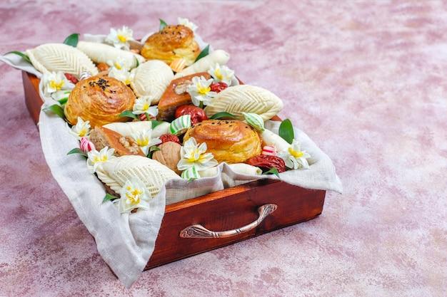 Vacances traditionnelles de l'azerbaïdjan bonbons novruz à xoncha.