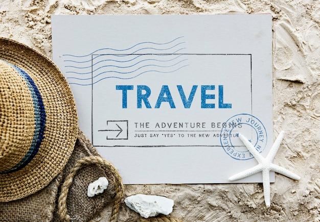 Vacances voyage voyage wanderlust vacation concept
