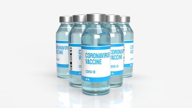Le vaccin covid 19 pour le rendu 3d de contenu médical.