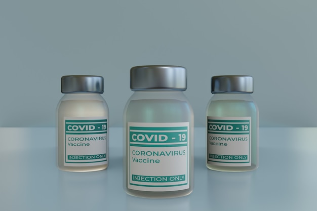 Vaccin flacon virus corona avec liquide