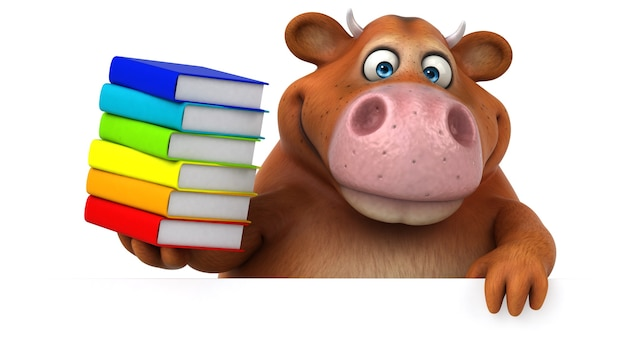 Vache amusante - illustration 3d