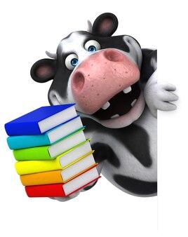 Vache amusante - illustration 3d