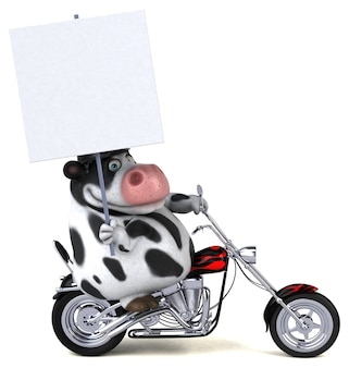 Vache amusante - personnage 3d