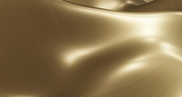Vague d'eau de surface en métal de paillettes d'or surface en métal brossé couleur or haut bas flottement