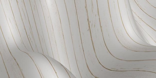 Vague de plancher en bois planche incurvée abstract background 3d illustration