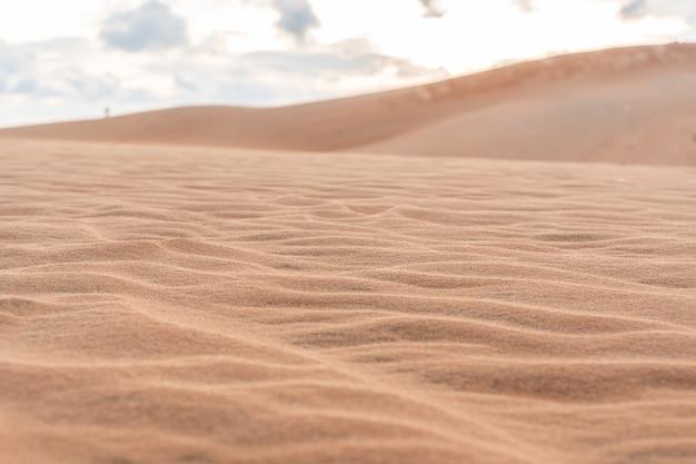 Vague de texture sable. mui ne, vietnam, espace copie