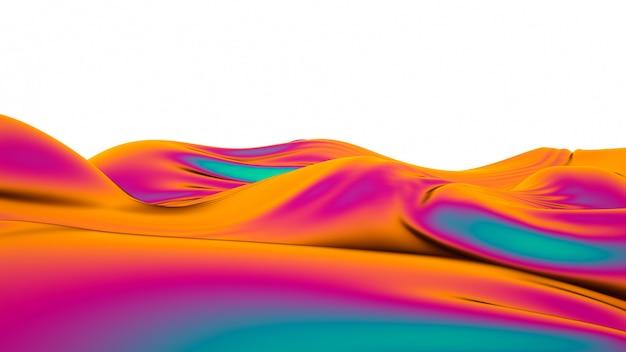Vagues abstraites de tissu multicolore.