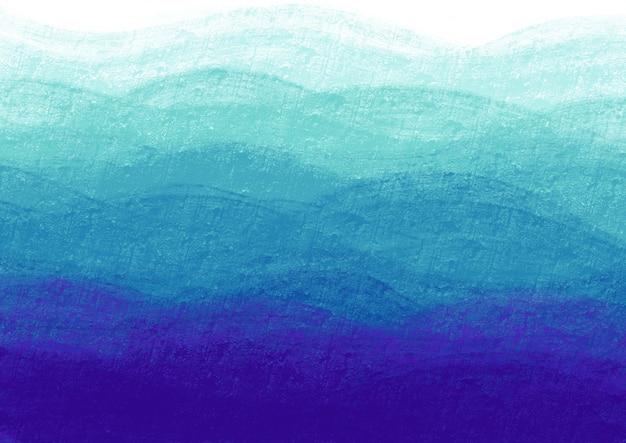 Vagues bleues dans un mur