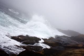 Vagues de freinage, la météo, la mer