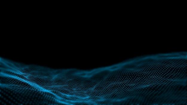 Vagues de points abstraits. concept de données volumineuses, fond de haute technologie