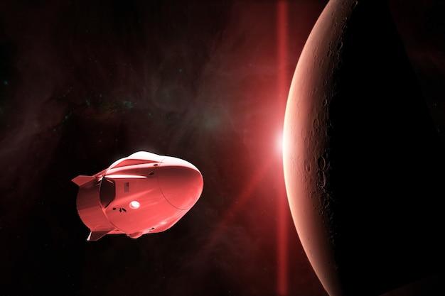 Vaisseau cargo en orbite basse de mars