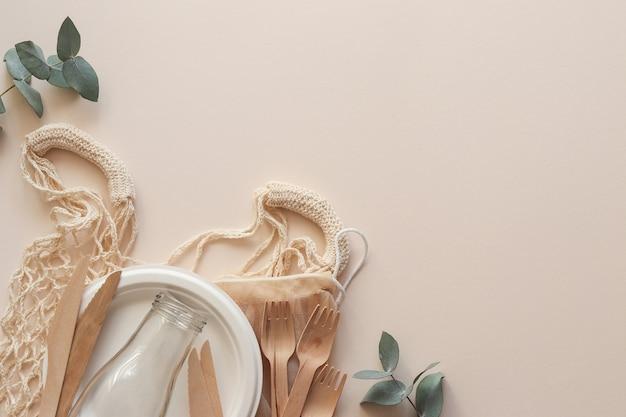 Vaisselle bio jetable écologique pour l'alimentation