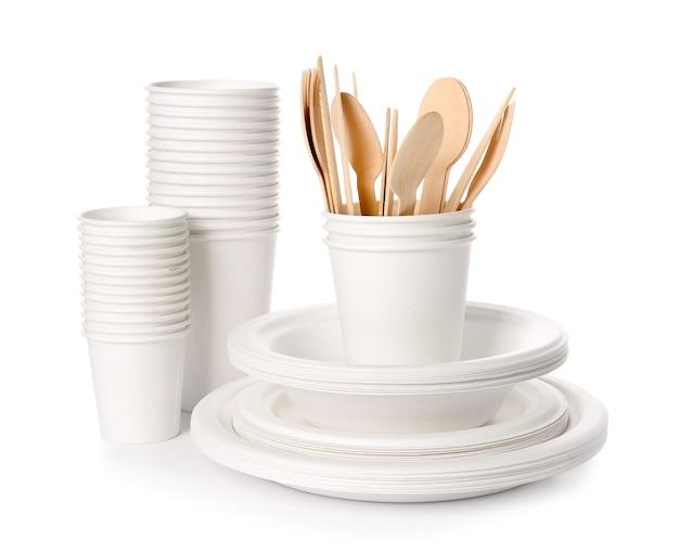 Vaisselle eco sur blanc