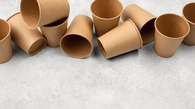 Vaisselle jetable écologique haute vue
