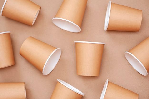 Vaisselle jetable respectueuse de l'environnement fond de gobelets en papier