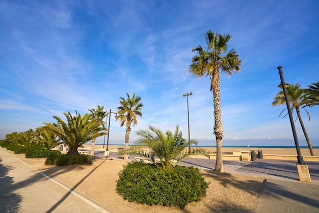 Valencia la malvarrosa arenas beach espagne