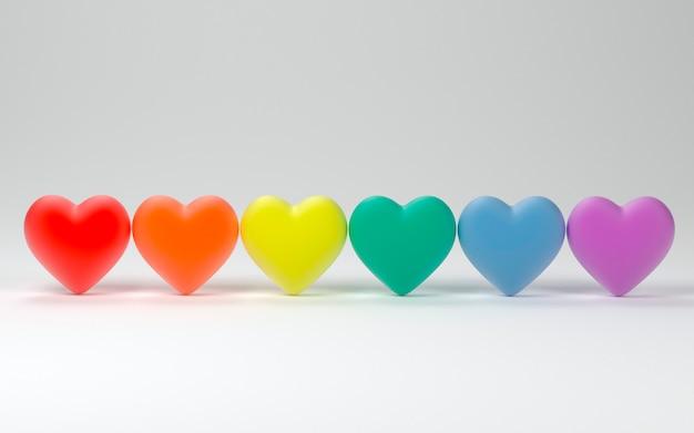 Valentin coeurs fierté couleurs fond