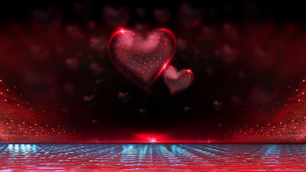 Valentin fond avec des coeurs de forme.