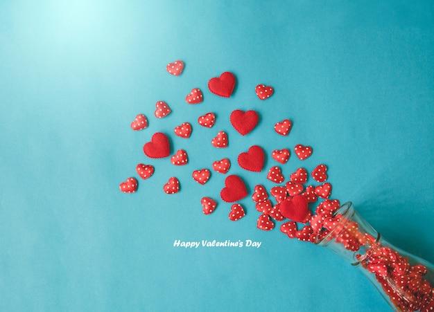 Valentine fond noir