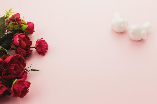 Valentine sur le rose