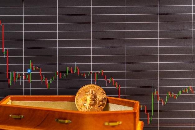 La valeur de bitcoin a subi des pertes importantes.le prix de bitcoin est en baisse concept