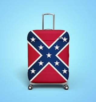 Valise drapeau confédéré - vacances