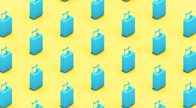 Valises bleues et jaunes