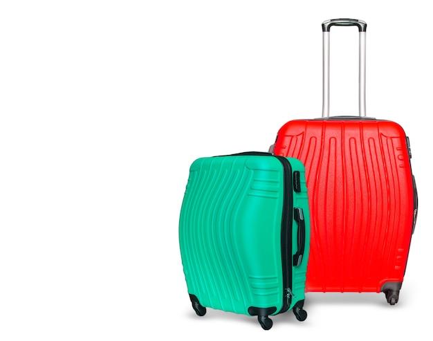 Les valises colorées. fermer