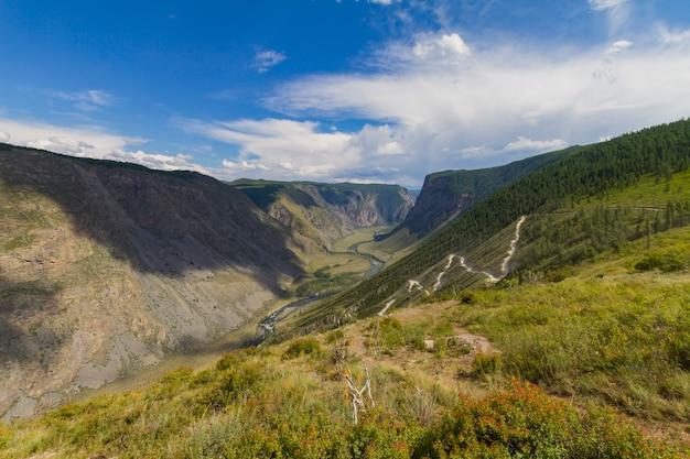 Vallée de la rivière, vue de dessus