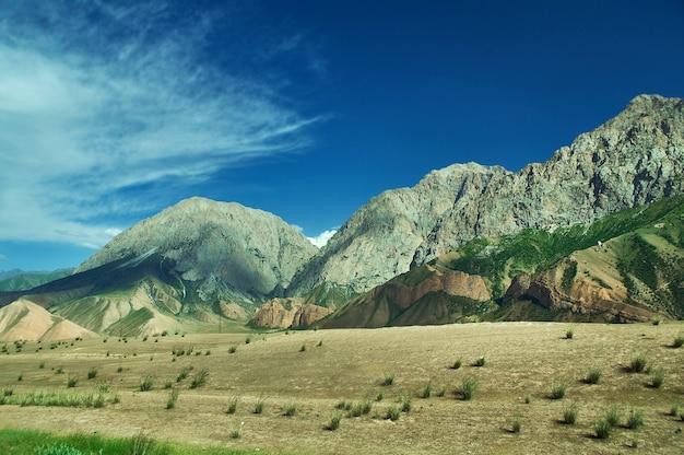 Vallées rver gulcha , pamir highway, kirghizistan, asie centrale