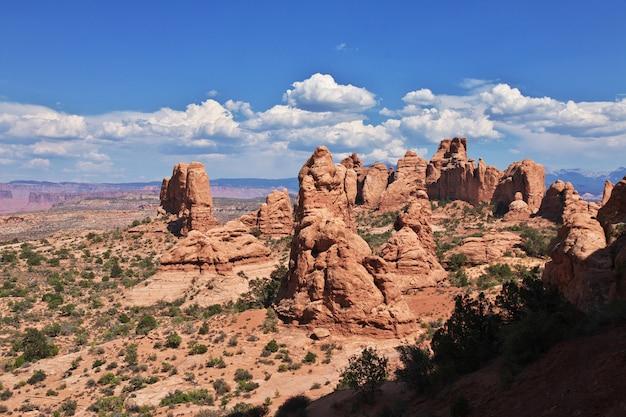 Valley arches dans l'utah, états-unis