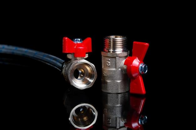 Valves de boule de porte de plomberie et tuyau d'eau flexible