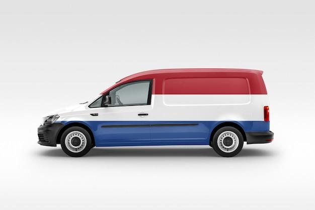 Van avec drapeau néerlandais