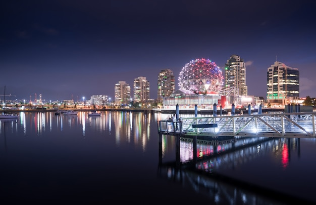 Vancouver, ville, horizon, colombie britannique, canada