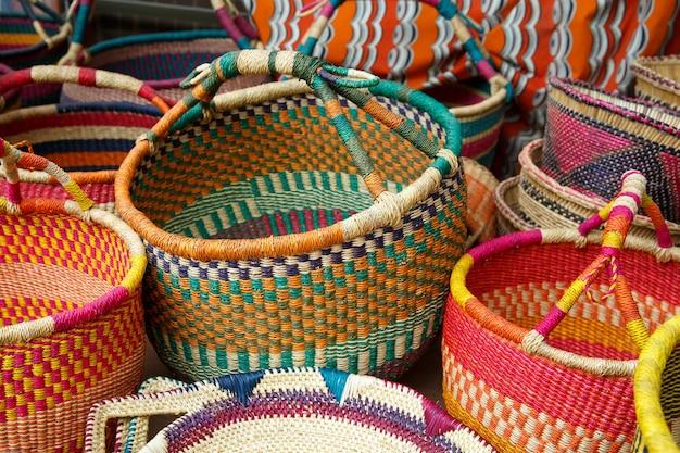 Vannerie ghanéenne de style original, ghana, afrique de l'ouest
