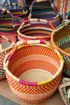 Vannerie Ghanéenne De Style Original, Ghana, Afrique De L'ouest Photo Premium