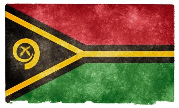 Vanuatu grunge flag