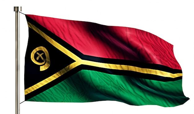 Vanuatu national flag isolated 3d fond blanc