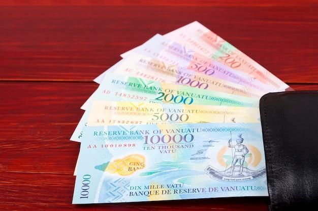 Vanuatu vatu dans le portefeuille noir
