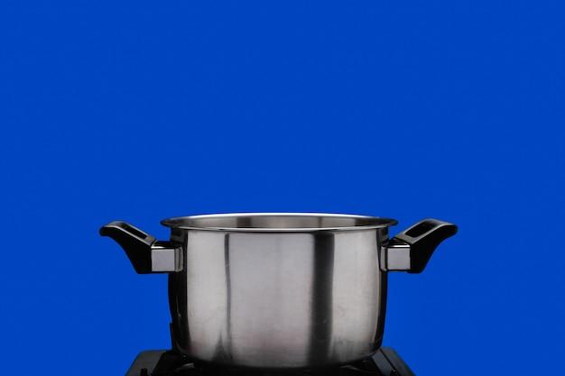Vapeur sur marmite, écran bleu