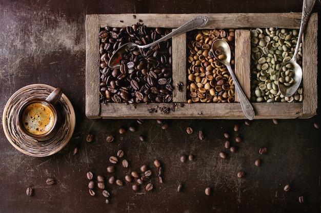 Variation de grains de café