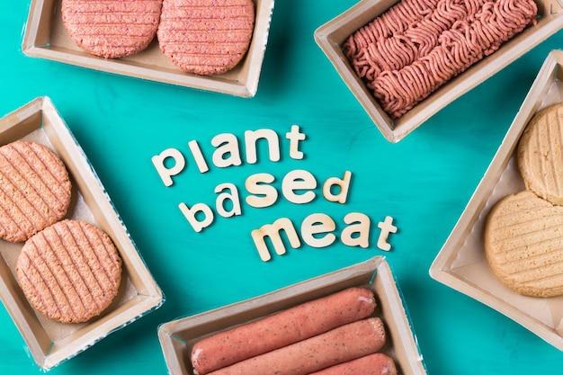 Variété d'aliments à base de viande à base de plantes pour réduire l'empreinte carbone