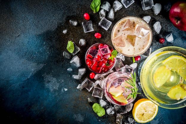 Variété de cocktails automne-hiver